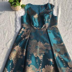 Adrianna Papel Metallic Jacquard Fit & Flare Dress
